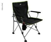 Chaise pliante noir-citron vert, avec sac d'emballage