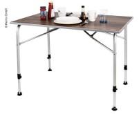 Table de camping LEVI 100x68x59/72cm, design en bois noble, résistant aux intempéries