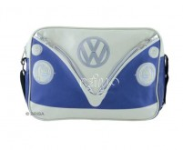 VW Collection Schultertasche VW Bulli,blau/creme,q uer,Masse 25x35x10cm