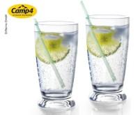 Trinkglas CAPRI, 2er Set 300ml, SAN, H13cm, Ø7cm