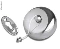 Corde à linge C-LINE extensible, longueur : 2m, boîtier en acier inoxydable + contrepartie