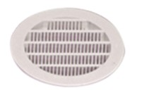 Grille de ventilation ronde Ø 100m, blanche