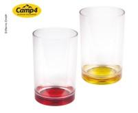 Gläser mit farbigem Boden TARIFA, 350ml, SAN, 2er  Set: gelb+rot