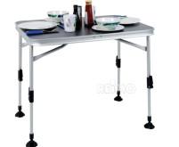Table de camping PARIS 80x60x70cm, dessus:anthracite,cadre en aluminium, résistant aux intempéries