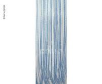 Rideau de porte STRING, 100% PVC, 60x190cm,blanc/bleu