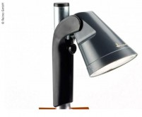 Lampe LED avec batterie rechargeable, il suffit de l'accrocher au poteau, câble de charge de 7 m inclus