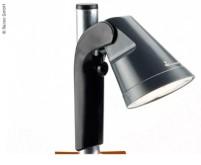 LED Lampe mit Akku, einfach ans Gestänge klicken,  inkl. 7m Ladekabel