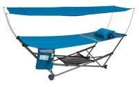 Chaise longue pliante Berger avec toit à crochets