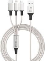 Berger 3-in-1 USB-Ladekabel zu Micro-USB / Lightning / USB-C 1,2 m