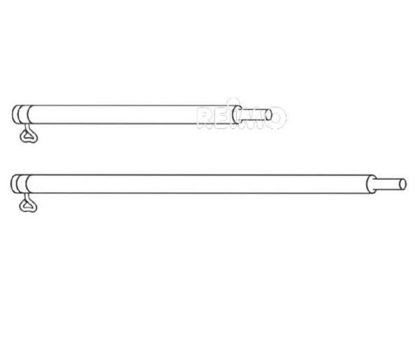 Verlängerungsstange Stahl 1,0M, Ø22 x 1,0mm lose