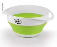 Bol + passoire en silicone, pliable, ensemble, blanc/citron vert