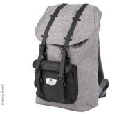 Rucksack HOLIDAY TRAVEL, grau, separates Laptop-In nenfach