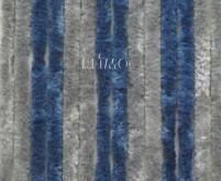 Rideau polaire 56x185 gris/bleu foncé