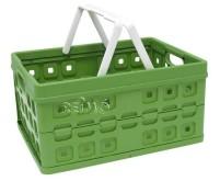 Klappbox 32L, naturgrün. Mit 2 Tragegriffen.