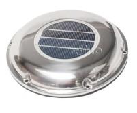 Ventilateur solaire 215 mm, découpe en acier inoxydable 160 mm