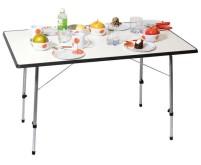 "Table de camping ""Ulf II"", 115x70cm avec cadre en acier robuste, bords gris"