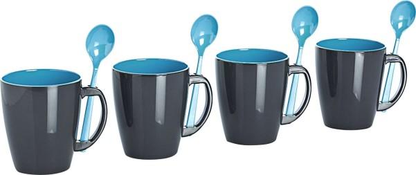 Gimex mug à poignée turquoise set de 4