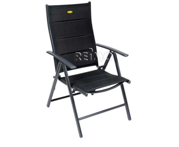 Ischia Mega Comfort XL, noir avec rembourrage et dossier incurvé