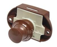 Push Lock - Serrure de meuble marron