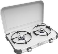Campingaz Camping Kitchen 2 CV Réchaud à gaz à 2 brûleurs, fonctionnement à cartouche, régulateur inclus