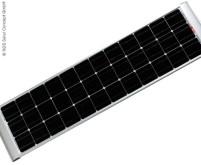 Solarpanel 100W Slim Version inkl. Halterungen, mo nokristalline Zellen
