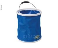 Seau à eau pliable 9L, couleur : bleu
