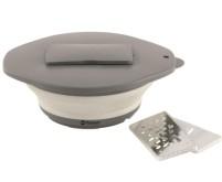 Silikon-Schüssel mit Deckel+ Reibe weiss ø23,5xH10, 5cm