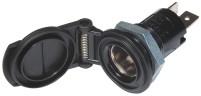 Prise standard encastrée DIN 16A avec plaque de montage et couvercle EV