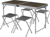 Berger Solo + 4 tabourets table de pique-nique 60 x 120 cm