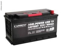 Carbest AGM 100Ah 353x175x190mm für T5 Batterie