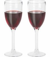 Lot de 2 verres à vin en plastique de Berger