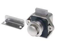 Push Lock Mini - Serrure de meuble argenté mat