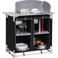 Berger Küchenbox 4 Fächer schwarz schwarz, grau