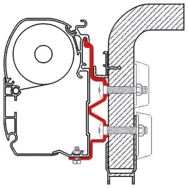 Adapter F1/F45i/F45iL Hymer Camp 3,5m