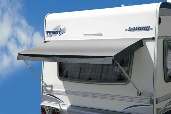 Store de fenêtre de caravane Trevira PVC 80x120 gris