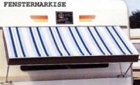 Caravan Fenstermarkise Airtex 80x  180cm, grau