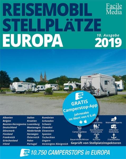 Campingführer Reisemobil Stellplätze Europa 2019
