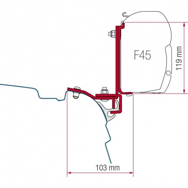 F45 Kit MultiRail Reimo VW T5