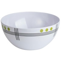 Berger Dots Melamine Salad Bowl Green
