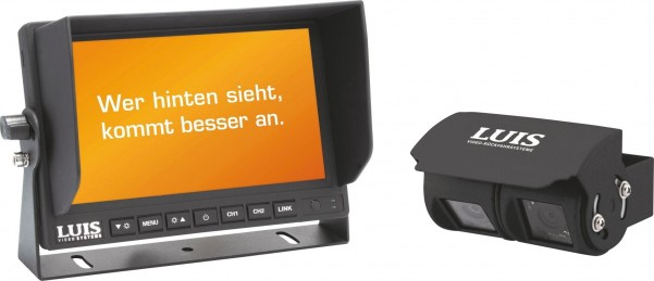 "LUIS 7""-Twin-Rückfahrsystem Professional schwarz"
