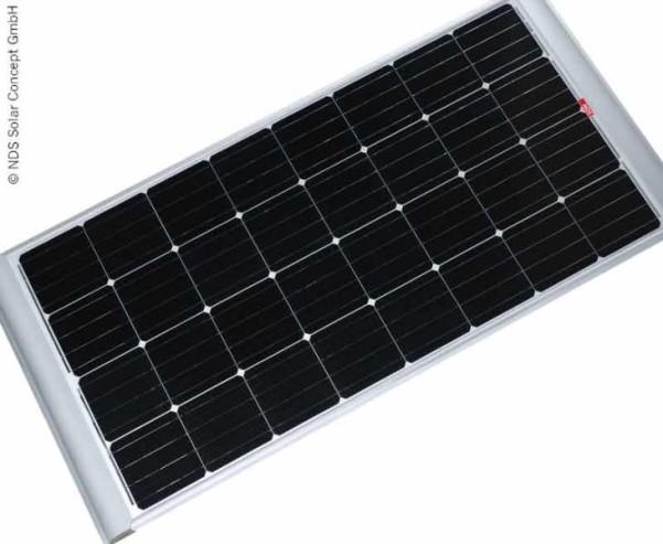 Solarpanel 140W inkl. Halterungen, monokristalline Zellen
