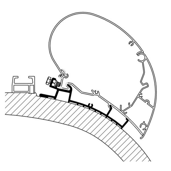 Thule Chartago Chic Adapter für Serie 6 4 m