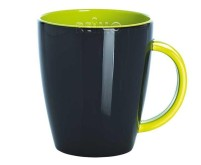 Mug en mélamine, gris-vert citron, 350ml