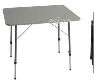 """Campingtisch""""MALTE""""80x60 mit Stahlgestell,höhenver stellbar, MDF-Platte"""