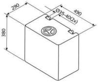Frisch- und Abwassertank 50l EV1004
