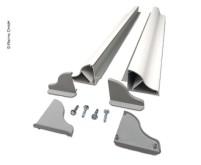 Solar-Panel-Montagespoiler Set Breite bis 550mm, 1  Paar, 4 Ecken, 2tlg
