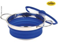 Pot en silicone, pliable, 20x30x3,5/8,5cm, bleu
