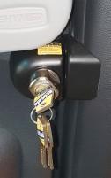 HEOSafe Mercedes Sprinter ab Bj. 2018 antivols 2 pièces verrouillables bouton tournant verrouillable