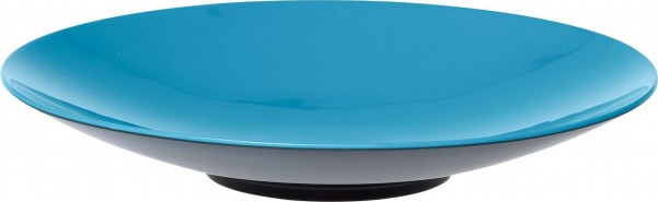 Gimex Pasta Plate Grey-Line Turquoise [ Couleur : turquoise ]