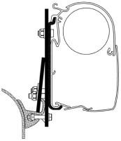 Adapter Omn.Markise-Multirail Brandrup VWT4/5 2ST